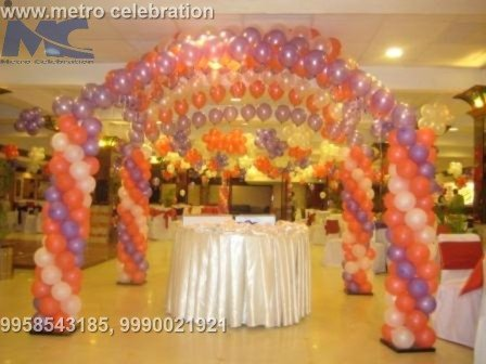 foil balloon decoration, foil balloons number decoration, gas balloon decoration in hyderabad.