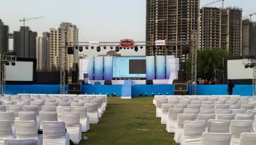 stage-Trust setup for corporate event