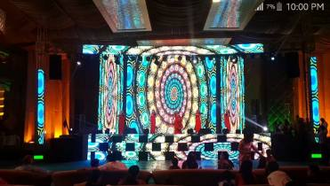 Stage-Trust setup with led wall in delhi.