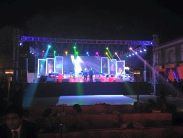 Stage-Trust setup with LED wall in noida, delhi ncr.
