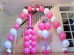 Best concept of - first birthday party decoration gas arch