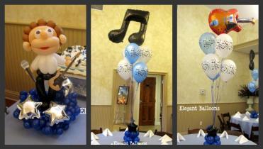 First birthday balloons column on foil balloons ideas