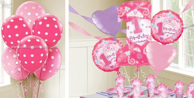 Round shape first foil balloons decoration ideas in delhi