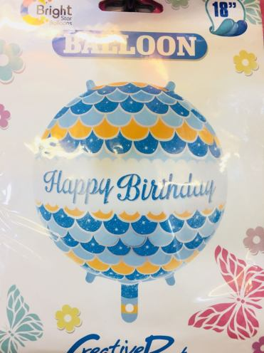 Happy birthday balloon props
