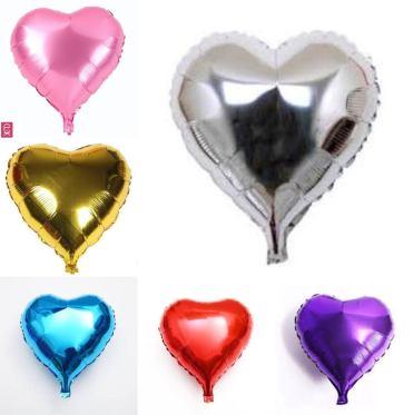 Heart shape foil balloons for birthday.