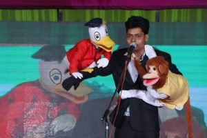 Donald puppet show for birthday party
