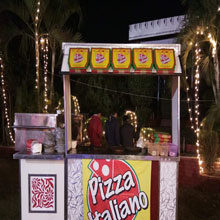 live piza counter for birthday party in delhi ncr noida, gurgaon, faridabad